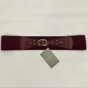 Anthropologie Stretch Leather Belt Sz M